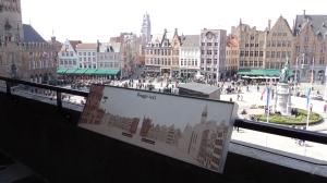Vista desde o Historium sobre a praça Grote Markt
